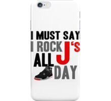 Rock JS All Day J4 Bred iPhone Case/Skin