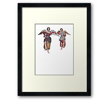 2 little angels to watch over you Framed Print