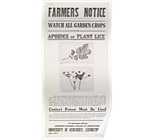 United States Department of Agriculture Poster 0043 Watch All Garden Crops for Aphids or Plant Lice Poster