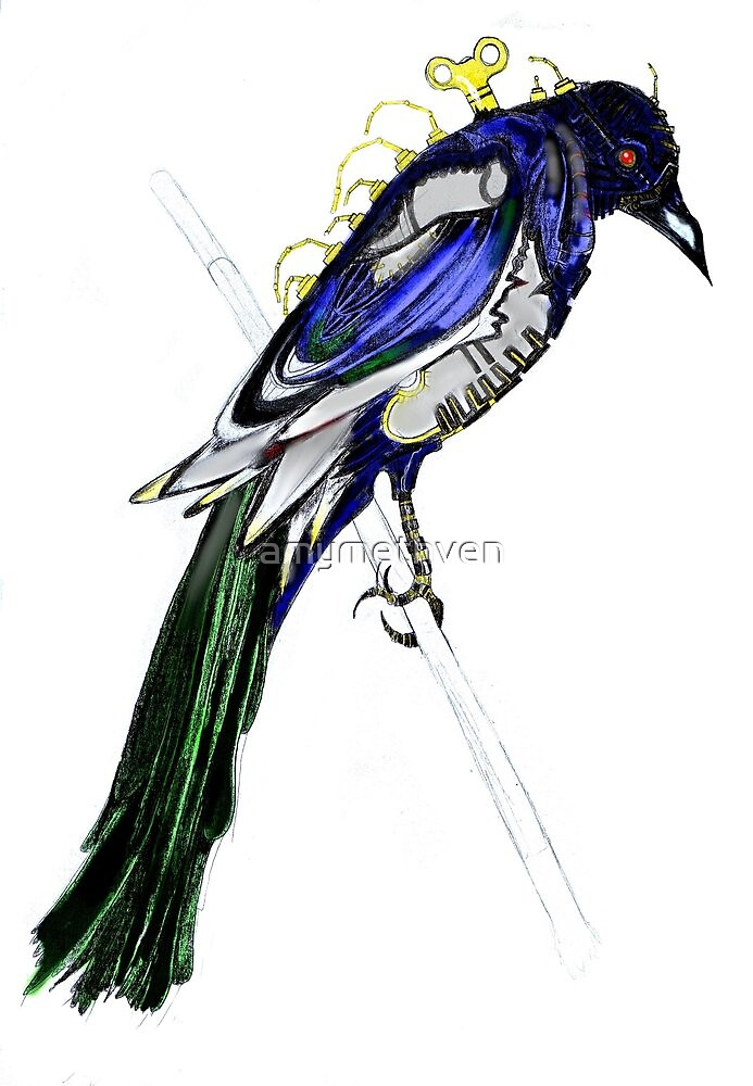 Clockwork Magpie by amymethven