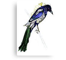 Clockwork Magpie Canvas Print