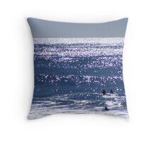 Ocean Glitter Throw Pillow