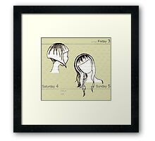 Manilla Vanilla : Parchment and Paper People and Places, Dates and Faces Framed Print