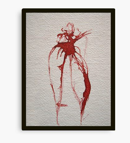 pen and ink eucalypt leaves Canvas Print