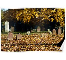 Old Town Cemetery on a Late Autumn Afternoon Poster