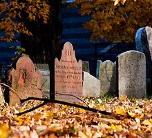 Headstones in the Afternoon Sun by Sandra Dunlap