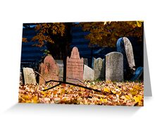 Headstones in the Afternoon Sun Greeting Card