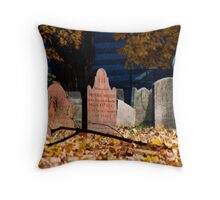 Headstones in the Afternoon Sun Throw Pillow