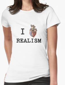 I heart realism Womens Fitted T-Shirt