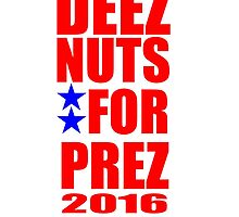 DEEZ NUTS FOR PREZ by A.S. Williams