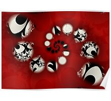 White Petals in a Red Sea Poster