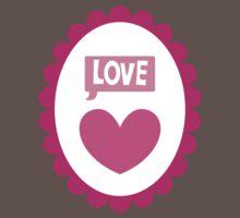 Love heart cameo cute One Piece - Short Sleeve