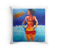 Noosa Beach Belle  Throw Pillow