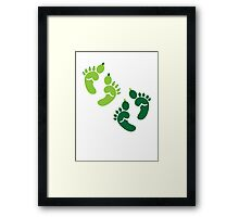 Two pairs twins Ogre feet cute for Halloween! Framed Print