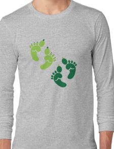 Two pairs twins Ogre feet cute for Halloween! Long Sleeve T-Shirt