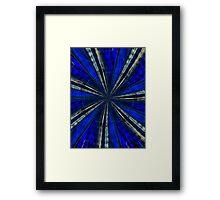 Psychedelic Blue Framed Print