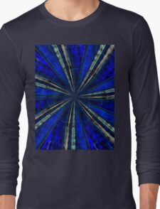Psychedelic Blue Long Sleeve T-Shirt