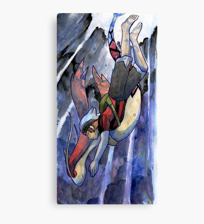 Pokemon - Dive! Canvas Print