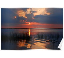 Another Sunset on the Lake Poster