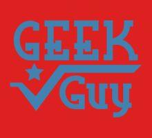 Geek Guy cute nerdy geek design for men Kids Tee