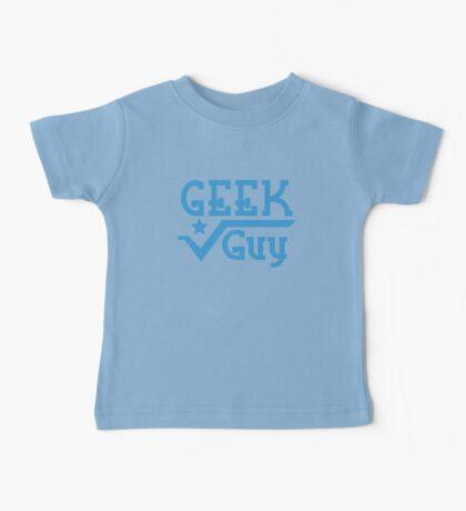 Geek Guy cute nerdy geek design for men Baby Tee