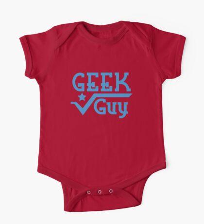 Geek Guy cute nerdy geek design for men One Piece - Short Sleeve