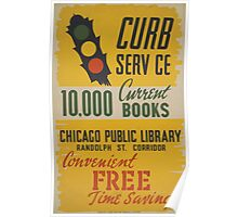 WPA United States Government Work Project Administration Poster 0470 Curb Service Chicago Public Library Poster