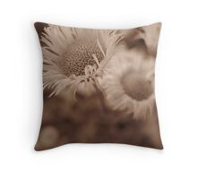 Flowers in Sepia Throw Pillow