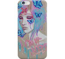 i cant sleep iPhone Case/Skin