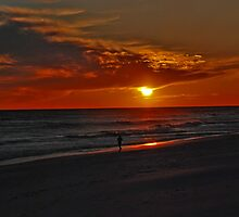 Sunset over the Gulf of Mexico by Susanne Van Hulst