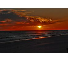 Sunset over the Gulf of Mexico Photographic Print