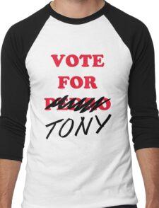 VOTE FOR TONY Men's Baseball ¾ T-Shirt