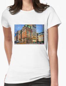 Manhattan Street Scene Womens Fitted T-Shirt