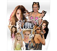 Miley Cyrus Collage Poster