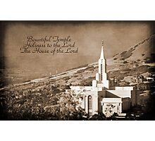 Bountiful LDS Temple Photographic Print