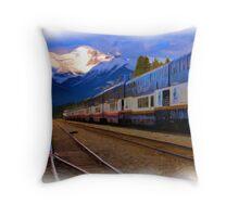 Rocky Mountaineer - Banff National Park Throw Pillow