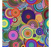 Super Cute Retro Mod Abstract Circles Photographic Print