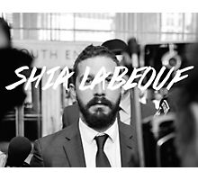 Shia Labeouf Black and White Photographic Print
