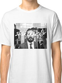 Shia Labeouf Black and White Classic T-Shirt