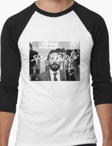 Shia Labeouf Black and White Men's Baseball ¾ T-Shirt