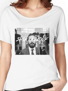 Shia Labeouf Black and White Women's Relaxed Fit T-Shirt