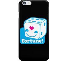 KAWAII cute lucky blue dice FORTUNE iPhone Case/Skin