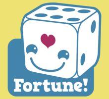 KAWAII cute lucky blue dice FORTUNE Kids Tee