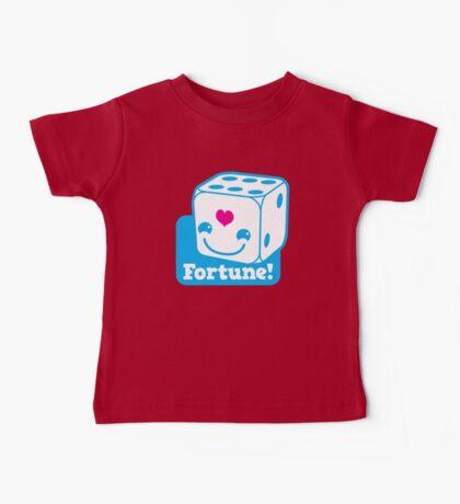 KAWAII cute lucky blue dice FORTUNE Baby Tee