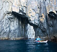 Kayaker, Bruny Island, Tasmania by Andy Townsend