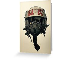 Fighter Pilot Korean Greeting Card