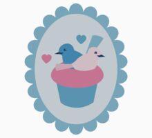 Blue wren cupcakes Kids Tee