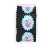 Blue wren cupcakes Duvet Cover