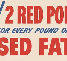 United States Department of Agriculture Poster 0135 Free 2 Red Points for Every Pound of Used Fats by wetdryvac