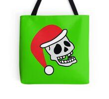 ha ha ha smiling skull SANTA for Christmas Tote Bag
